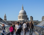 Millennium Bridge e St. Paul's Cathedral