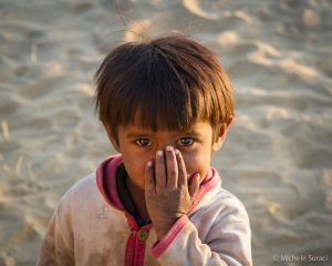 Una bambina del Rajasthan