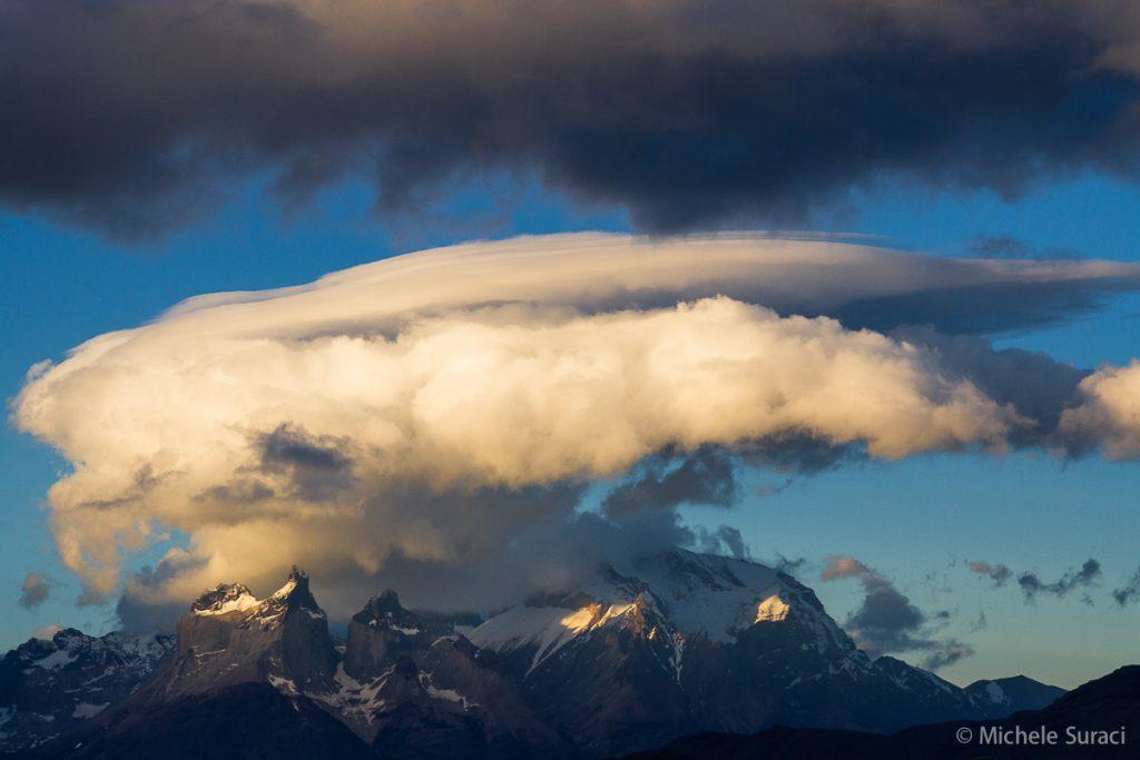 Tramonto sul Massiccio del Paine