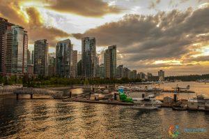 Il tramonto su Vancouver