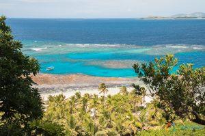 La nbarriera corallina che circonda Matamanoa