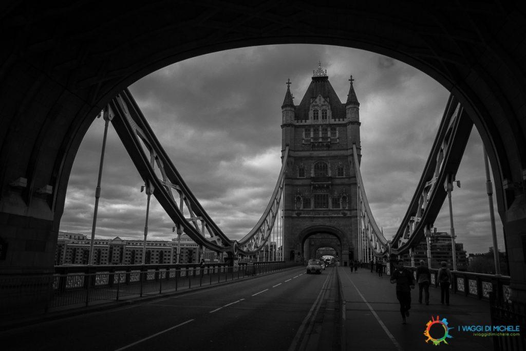 Londra in una giornata grigia