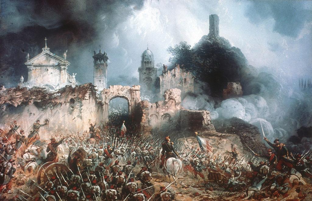 La Battaglia di Solferino dipinta da Calro Bossoli
