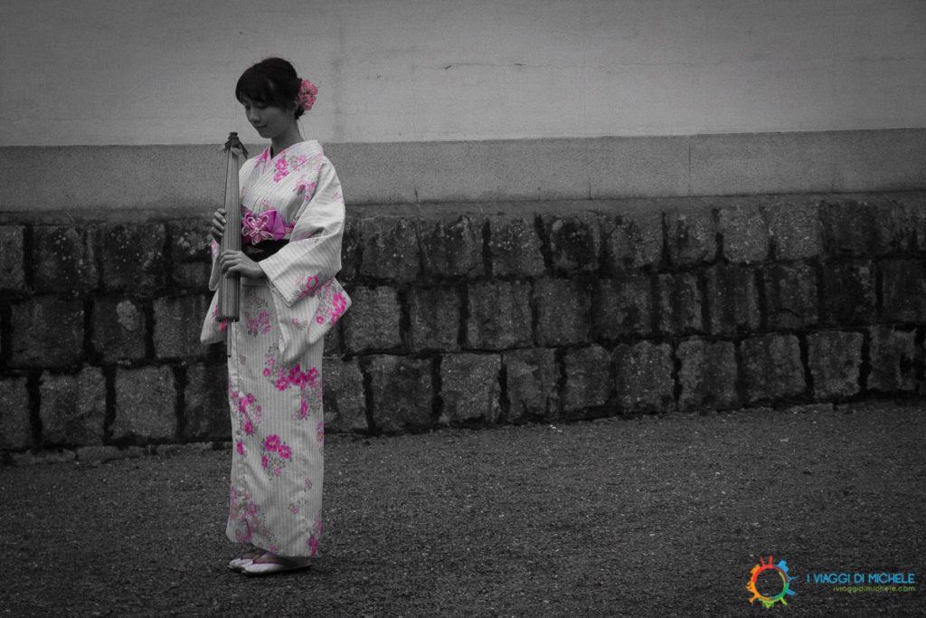Kyoto - Il Rosa in evidenza ricorda il tema del reportage - La Fioritura dei Ciliegi