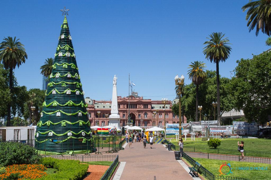 Albero di Natale a Buenos Aires, 35 gradi!