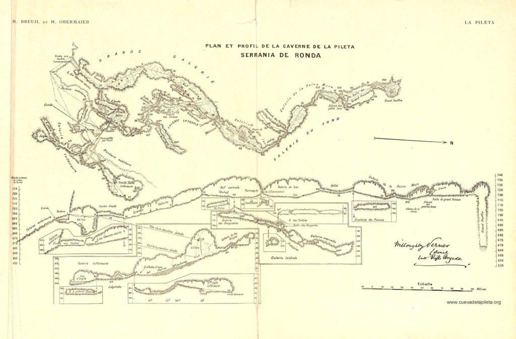 Planimetria Cueva de la Pileta