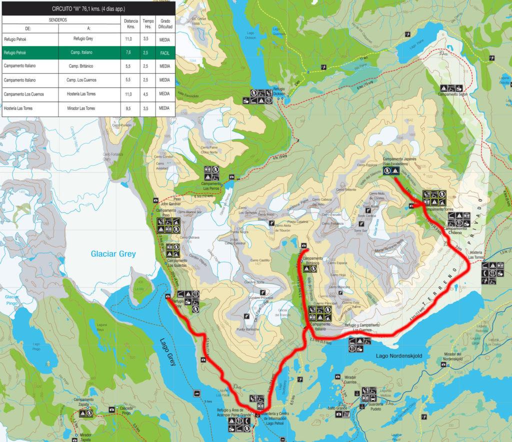 Circuito - W Torres del Paine