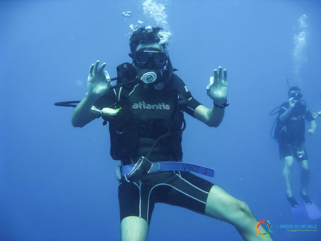 Diving alle Fiji, la discesa