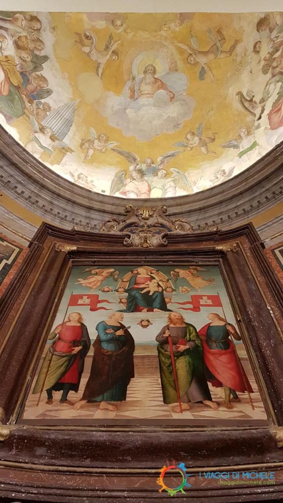 Il quadro del Perugino e l'abside affrescata dal Pomarancio - Città della Pieve