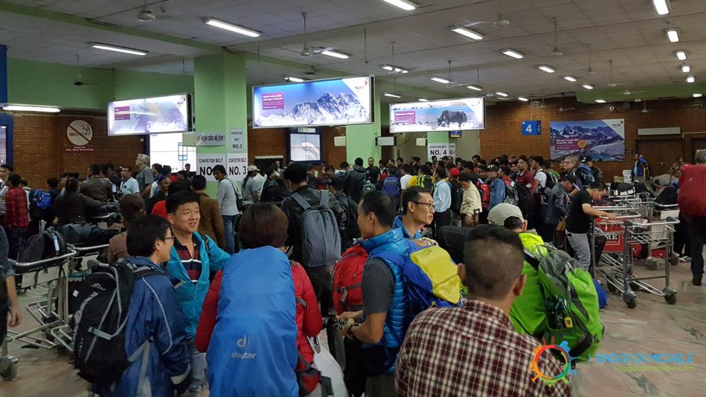 Aeroporto di Kathmandu, ritiro bagagli
