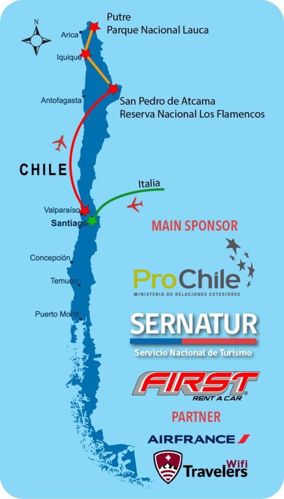 Itinerario del mio viaggio in Cile