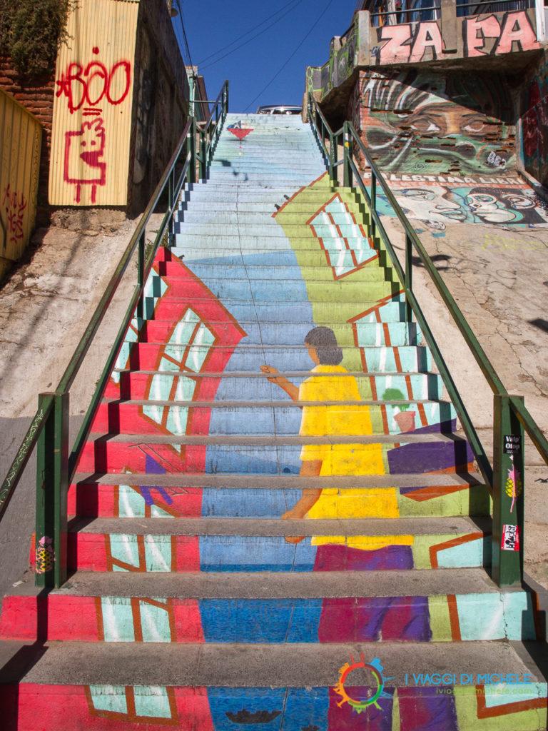 Le scalinate di Valparaiso
