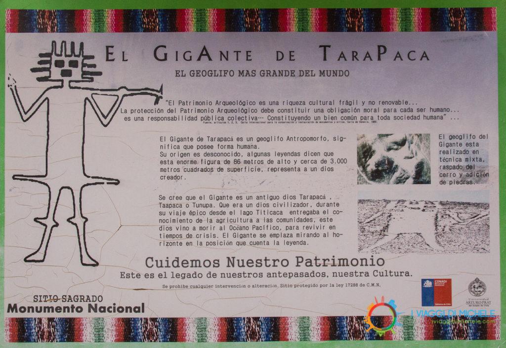 Gigante di Atacama Cartello informativo